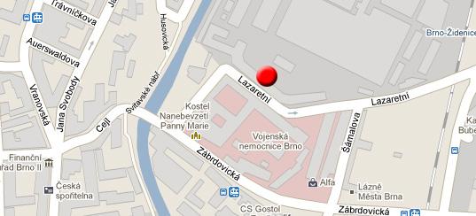 Mapa Lazaretní, Felice
